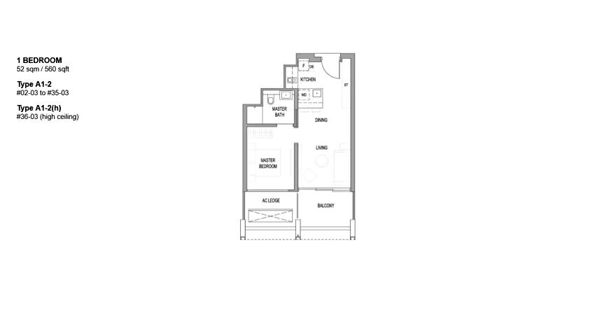 Riviere floor plan_1br