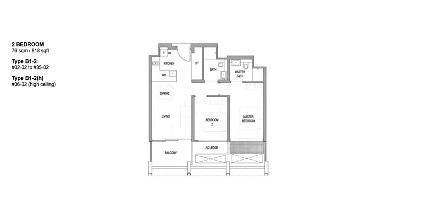 Riviere floor plan_2br
