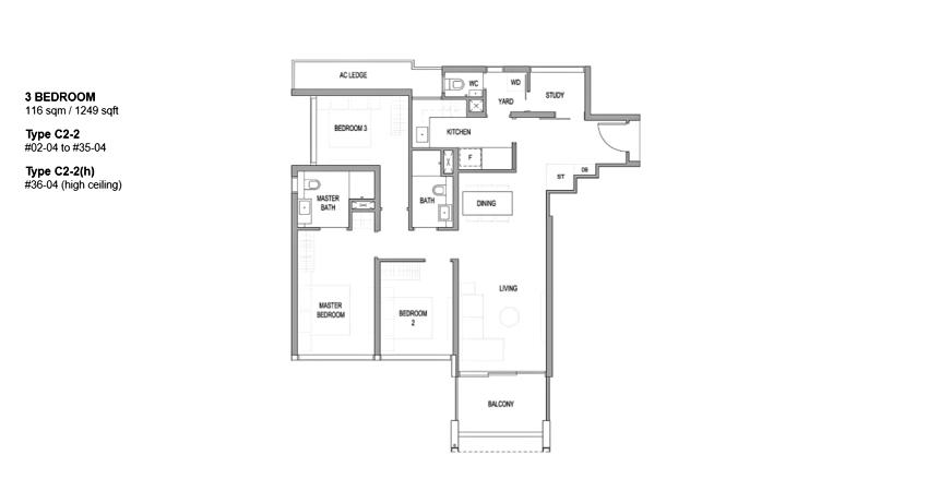 Riviere floor plan_3br