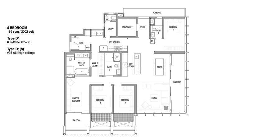 Riviere floor plan_4br